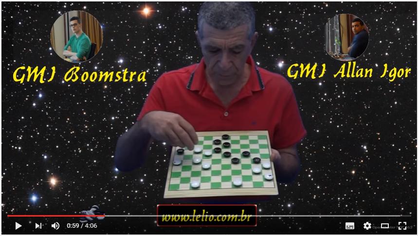 Um empate de grande mestre no jogo de damas